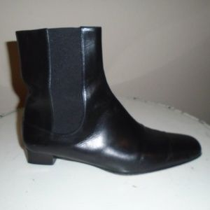 COLE HAAN BLACK ANKLE BOOTS ~ 7 ~BLOCK SQUARE HEEL